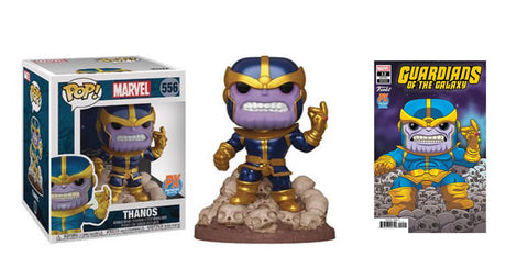 "PoP! Marvel: Guardians of the Galaxy-Thanos 6"" (W/ Variant Comic) PX Previews Exclusive COMING SOON"
