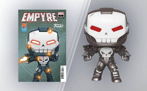 PoP! Marvel: Punisher War Machine (W/ Variant Comic)- PX Previews Exclusive COMING MAY