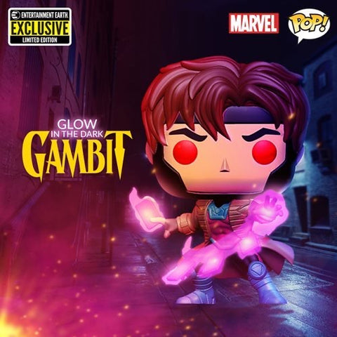 PoP! Marvel: Gambit (GITD) Entertainment Earth Exclusive