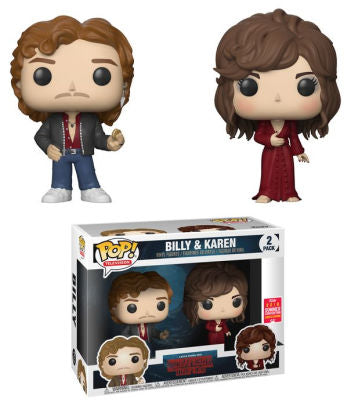 2018 SDCC-SHARED EXCLUSIVE-BILLY AND KAREN WHEELER-Stranger Things Funko PoP! 2 Pack