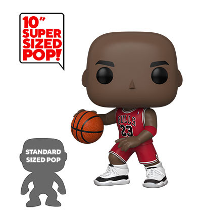 "PoP! NBA: Michael Jordan 10""- Red Away Jersey"