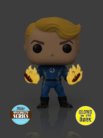 PoP! Marvel: Fantastic Four- Human Torch (Suited) GITD Specialty Series