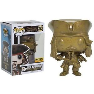HOT TOPIC EXCLUSIVE-JACK SPARROW (Gold)-Pirates Of The Caribbean Funko PoP!