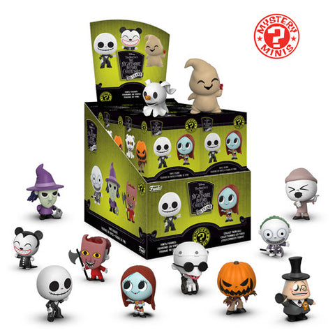 THE NIGHTMARE BEFORE CHRISTMAS-(Unopened Case Of 12) Mystery Minis