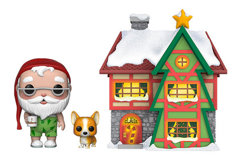 PoP! Town: Holiday-Santa's House W/ Santa and Nutmeg (Light's Up)