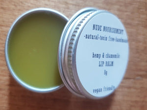 Natural Hemp Lip Balm 8g