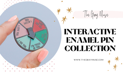 The Gray Muse Interactive Enamel Pin Collection