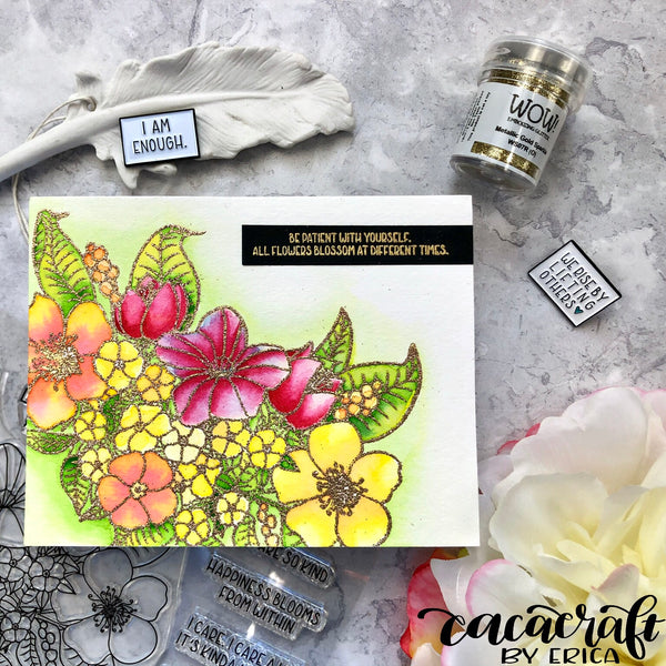 The Gray Muse - Guest Designer Erica Andersson-Burke with Happiness Blooms Stamp Set