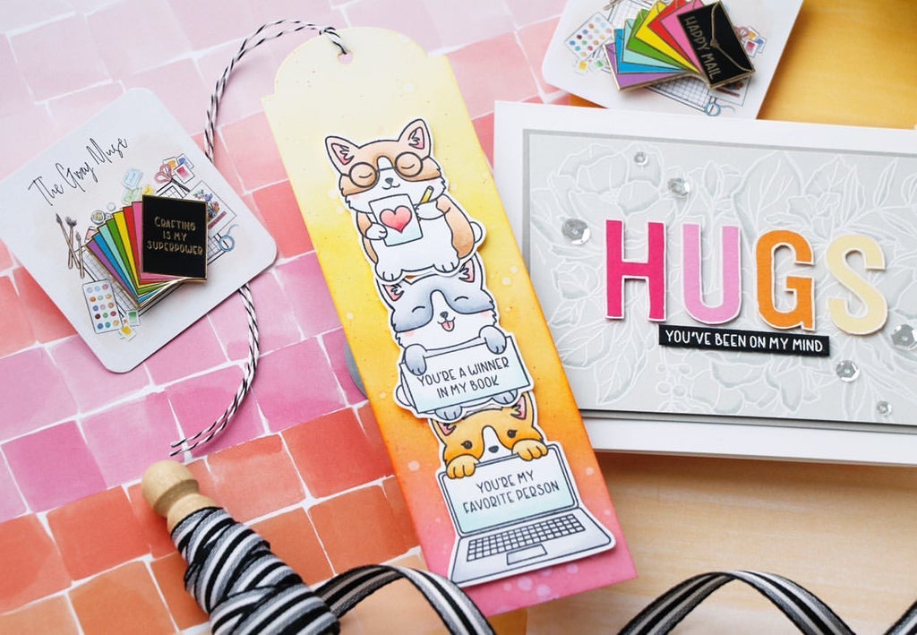The Gray Muse Hugs and Dogs in the Craft Room Stamp Set - Guest Designer Laura Bassen