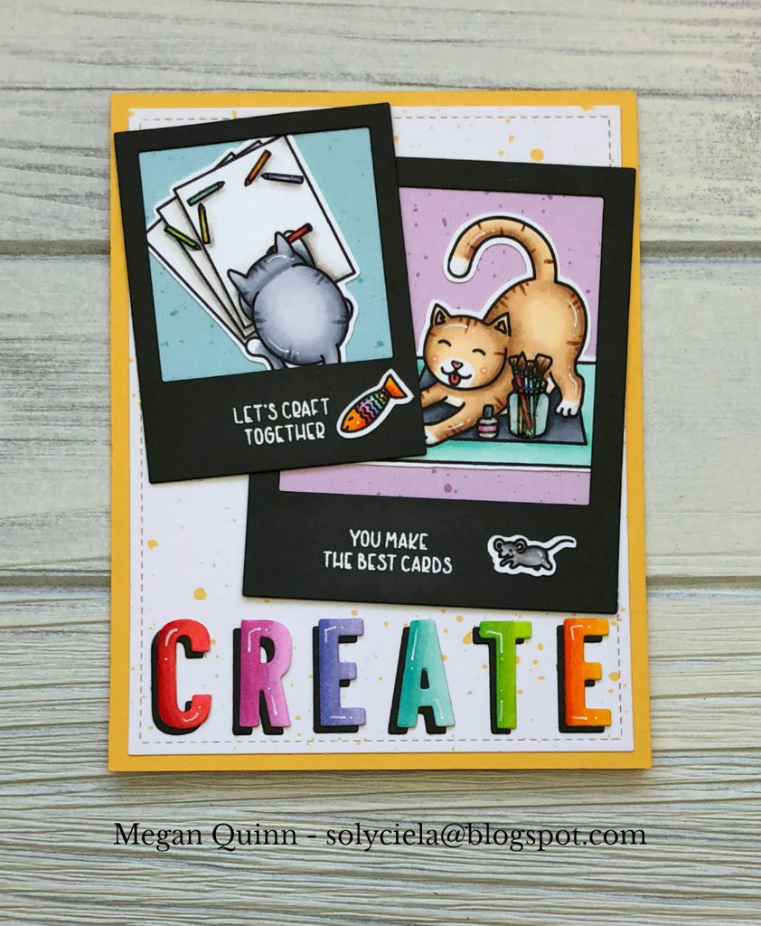 The Gray Muse Cats in the Craft Room Stamp Set