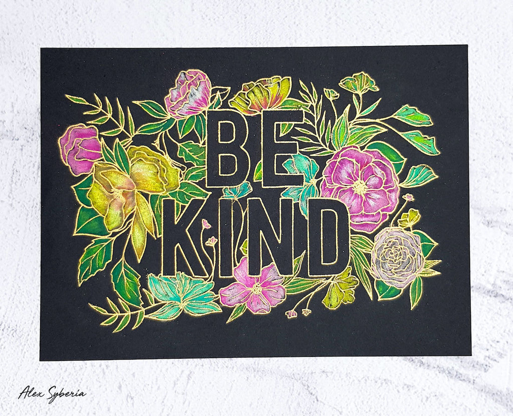 The Gray Muse Be Kind Stamp Set