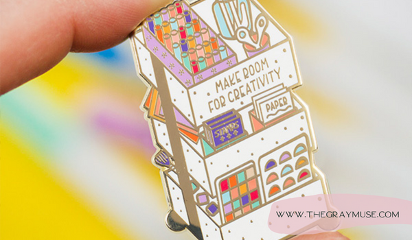 The Gray Muse Enamel Pin Holiday Gift Guide