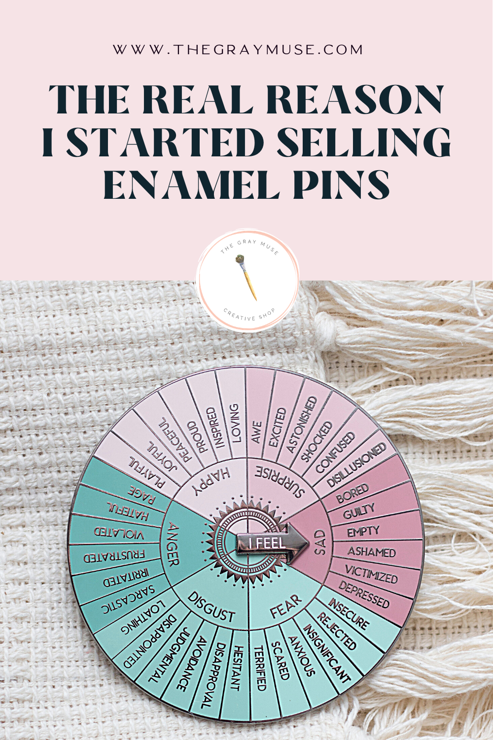 The Gray Muse - The Real Reason I Started Selling Enamel Pins - Pinterest