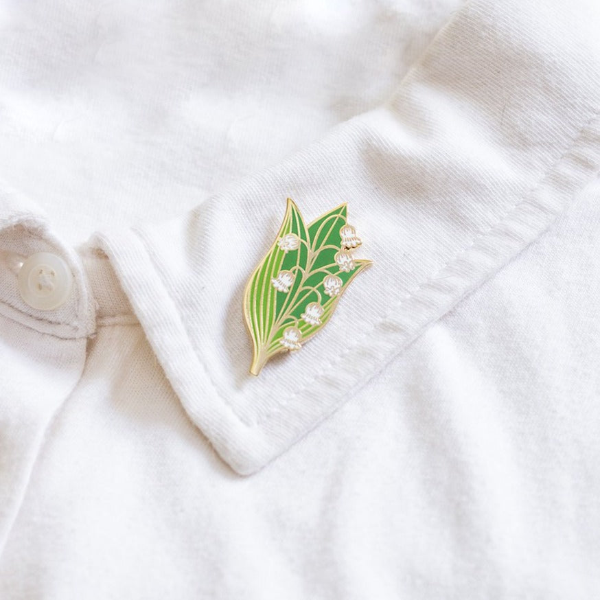 Lilies of the Valley Enamel Pin