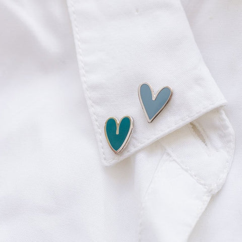 Mini Hearts (6) Enamel Pin Collection