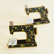 Sewing Machine Interactive Enamel Pin