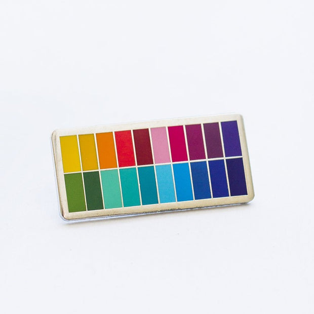 Slim Color Palette Enamel Pin