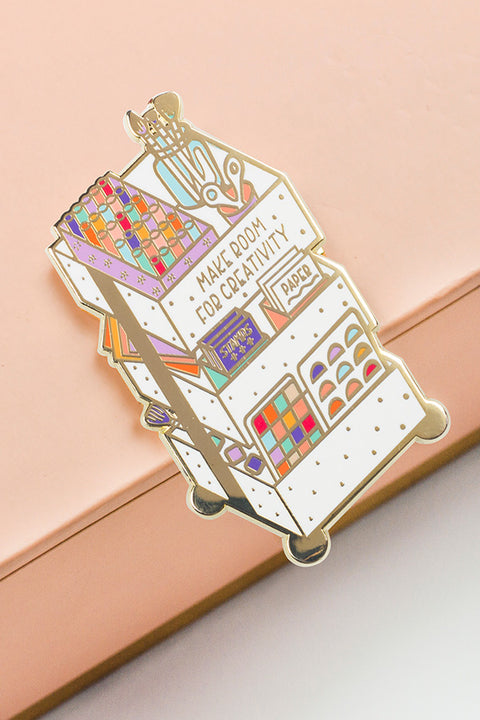 Creativity Cart Enamel Pin - The Gray Muse