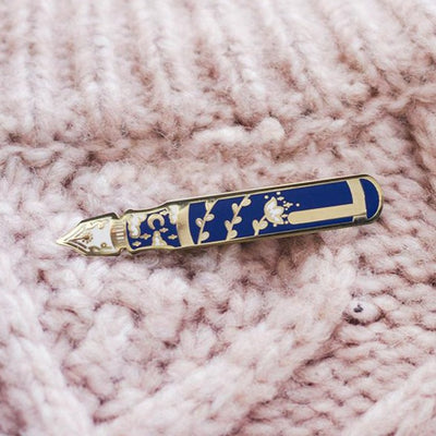Fountain Pen Enamel Pin - The Gray Muse