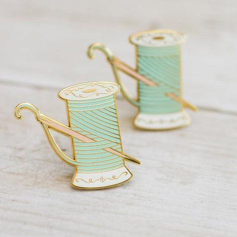 Needle and Thread Enamel Pin