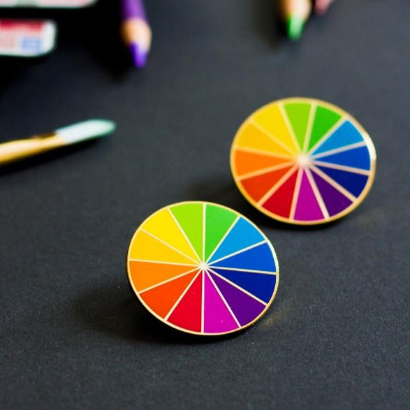 Rainbow Color Wheel Enamel Pin