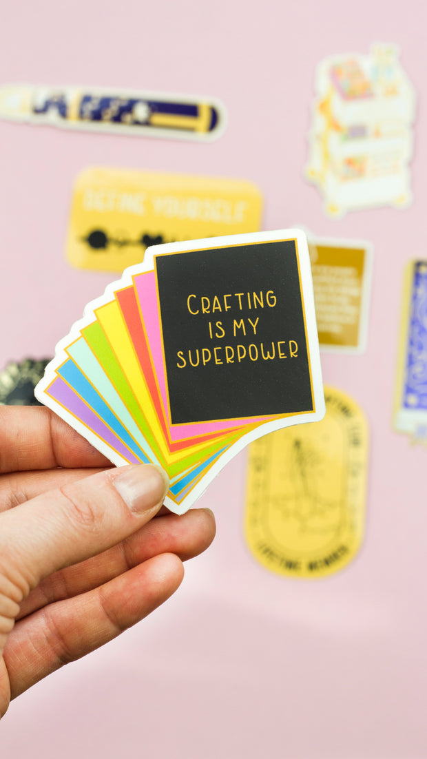 Rainbow Card Stock Sticker - The Gray Muse