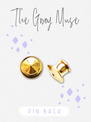 Deluxe Locking Pin Back for Enamel Pins - The Gray Muse