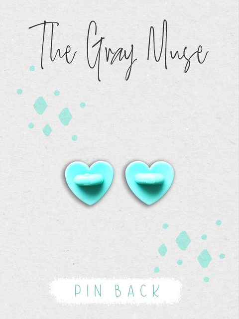 Heart Rubber Back Clutch for Enamel Pins - The Gray Muse