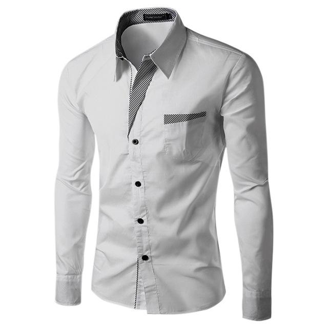 Two-Tone Long Sleeve Button Up