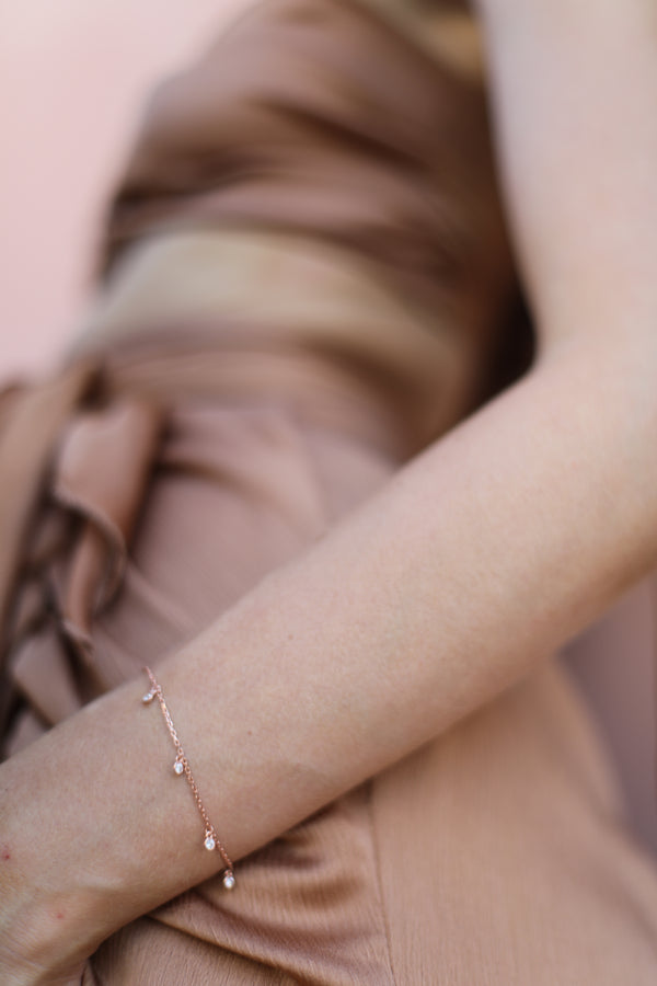 bracelet MINI DROPS ROSE GOLD