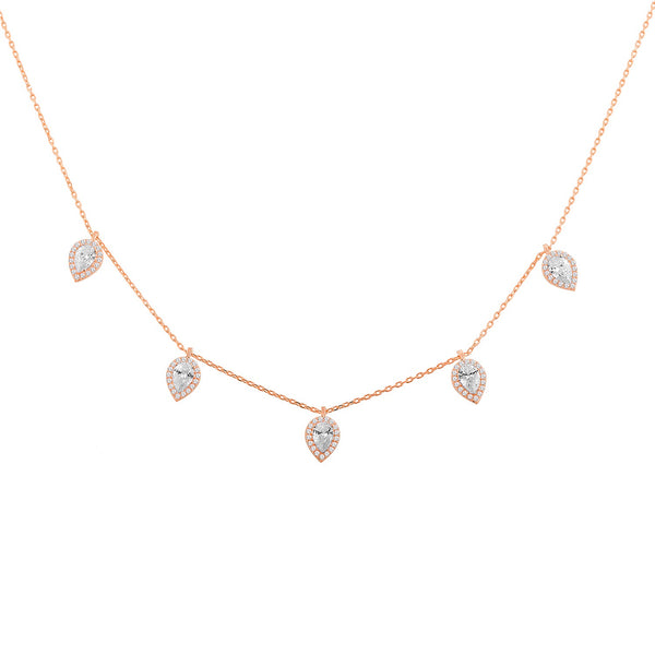 Drop big choker rose gold