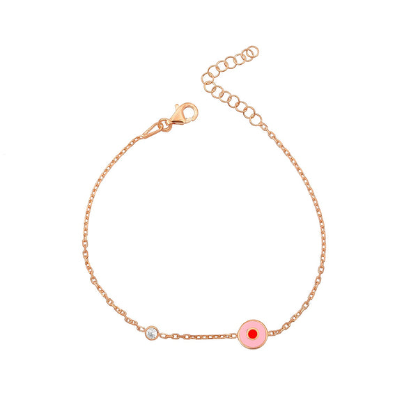 ENAMEL EYE ROSE GOLD bracelet