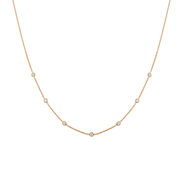 Dainty choker rose gold