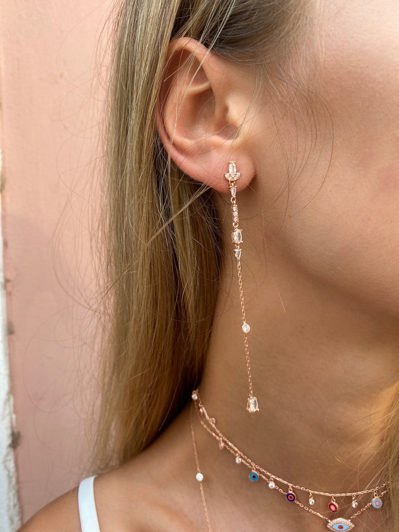 BELLA EARRING ROSE GOLD