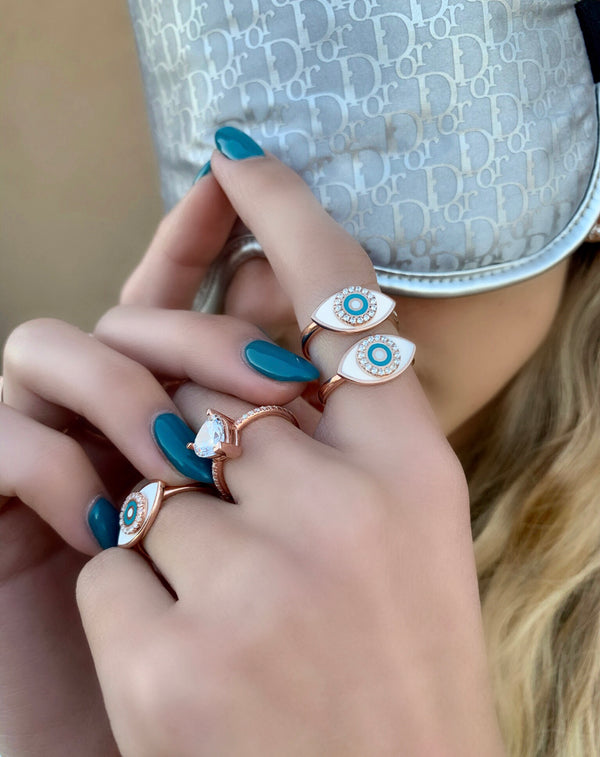 RING EYES STORMY rose gold