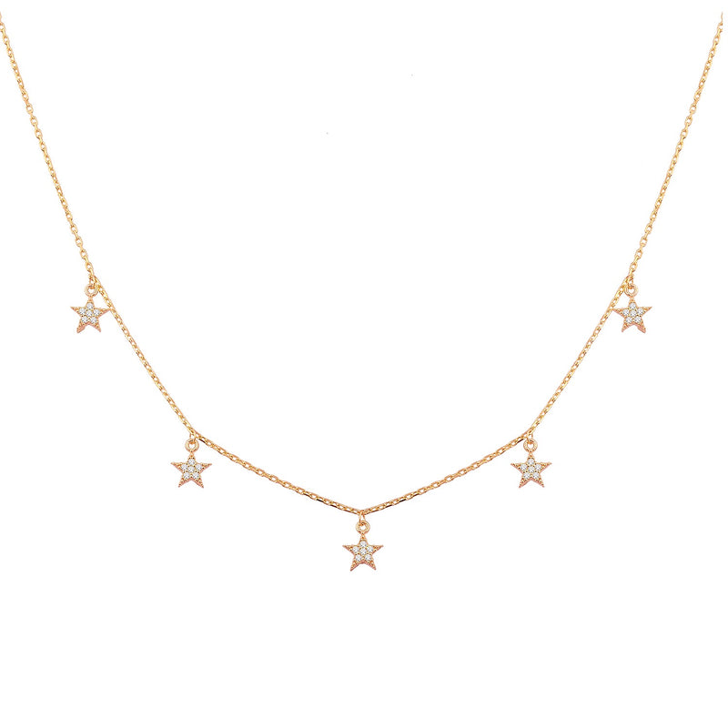 Stars Necklace rose gold