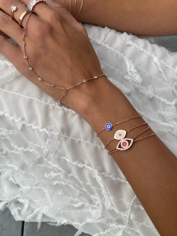 BRACELET MINI BLUE EYES ROSE GOLD