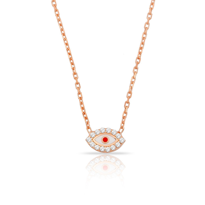 Eyes ema mini red rose gold