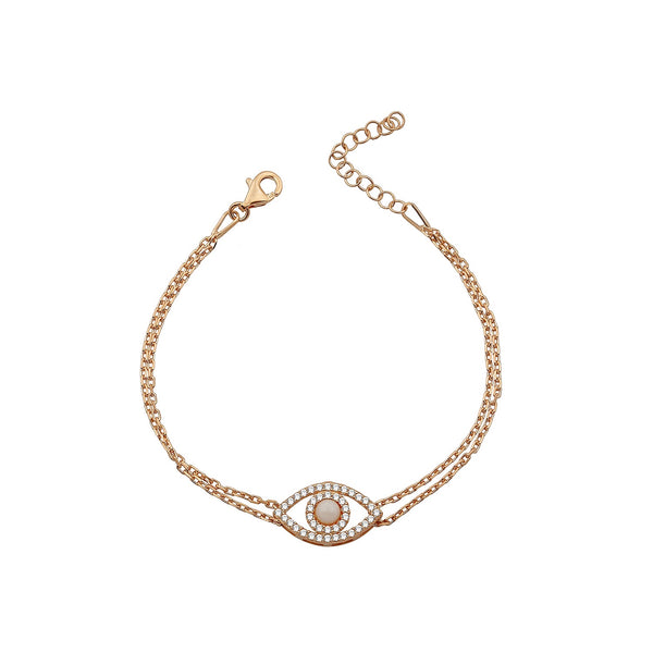 MIRANDA WHITE BRACELET ROSE GOLD