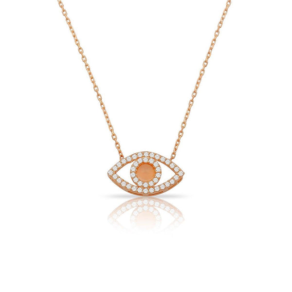 MIRANDA PINK NECKLACE ROSE GOLD