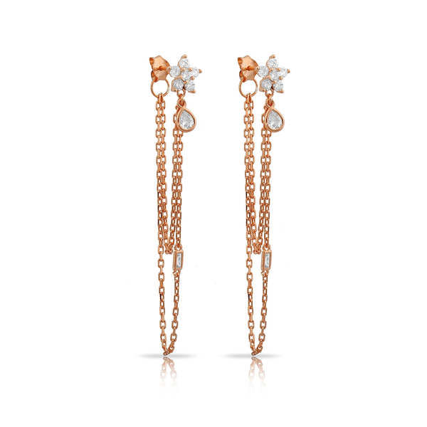 ALEX ROSE GOLD EARRING