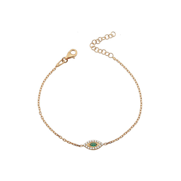 BRACELET KAI GREEN ROSE GOLD