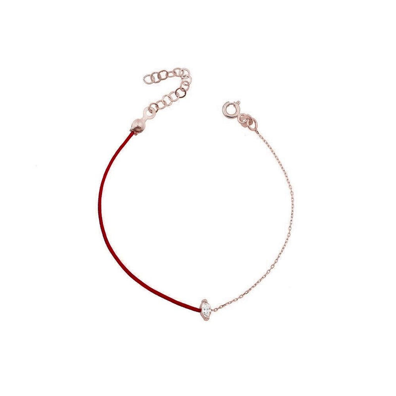 RED WIDE ROSE GOLD Bracelet