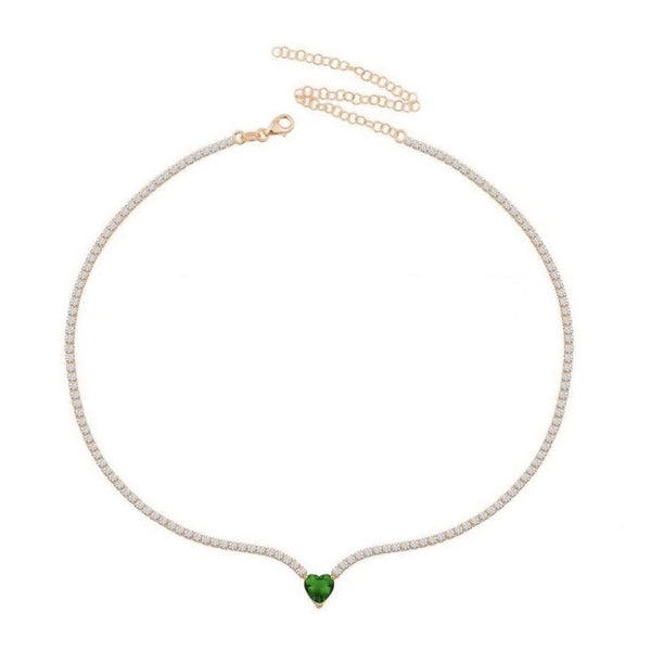 Choker Heart Green