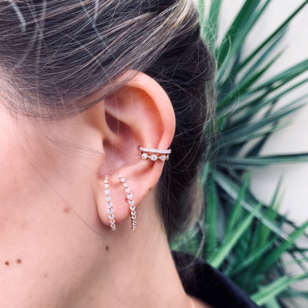 Kim rose gold M Earrings