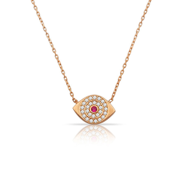 ANABELLE EYES ROSE GOLD NECKLACE
