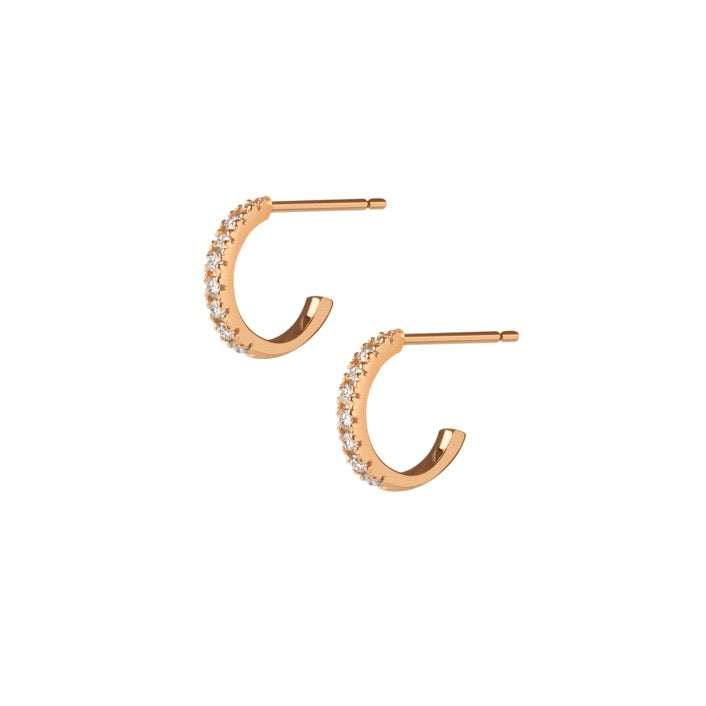 HOOPS MINI ROSE GOLD earrings
