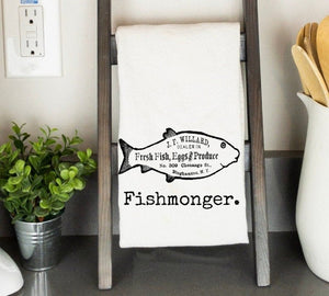 Fish Monger Retro Farm House Dish Towel