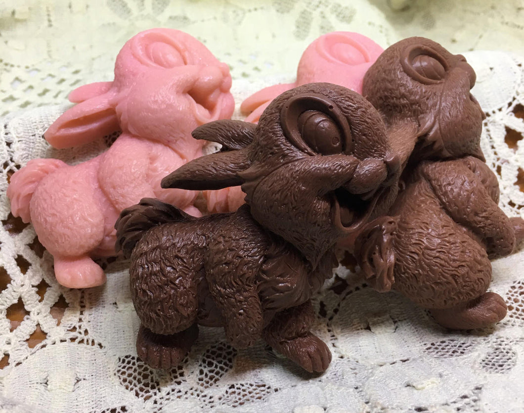 Bunny Soap - Four Handcrafted Natural Goats Milk Soap Bunnies - Easter Gift