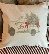 "Chesilhurst Farm Holiday Joy Pillow Cover |  Natural Cotton Canvas | 18"" x 18"""
